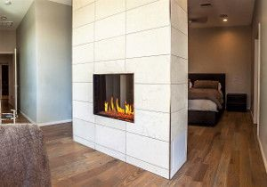 Flare frameless See Through 80 linear fireplace