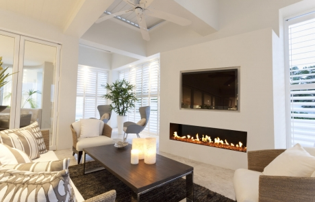 Tv Above Linear fireplace