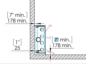 diagram example of fireplace clearance