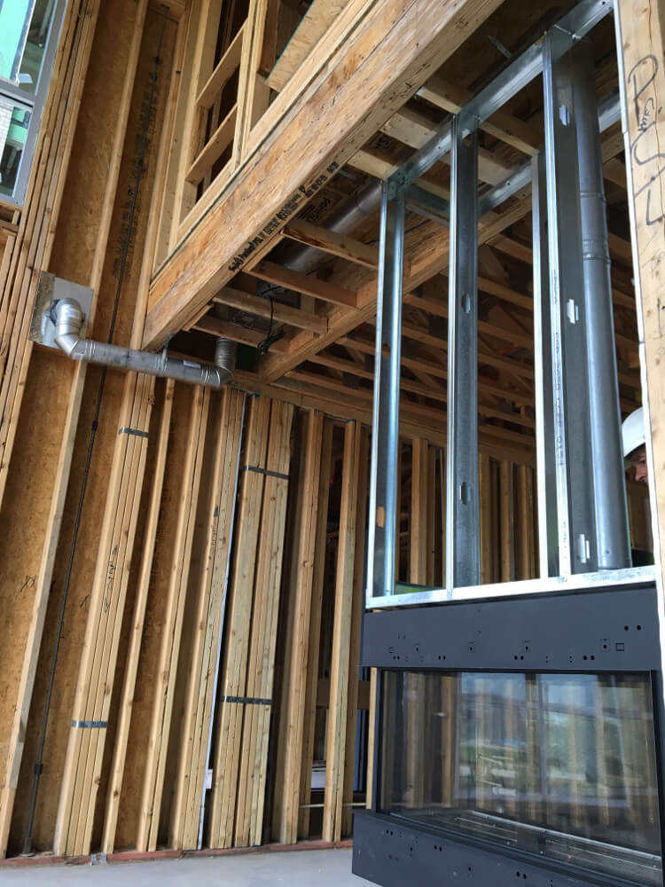 Power vent install example