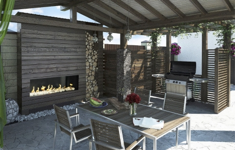 Outdoor fireplace linear - Flare-FF-60 frameless gas fireplace