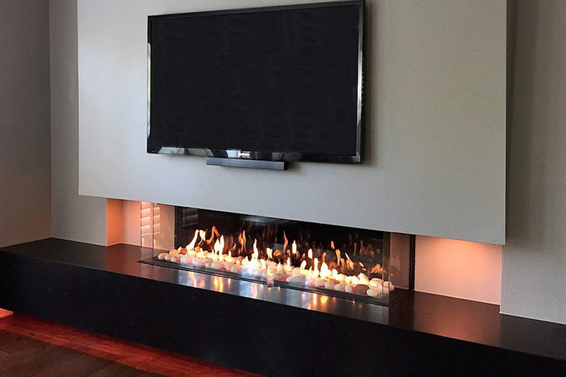 "Flare Double Corner 70"" Fireplace"