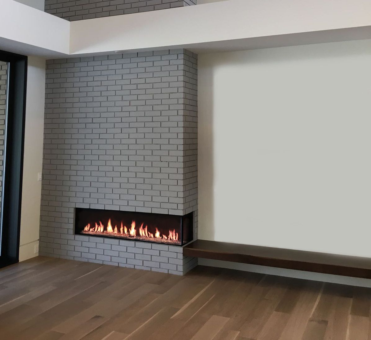 flare right corner modern fireplace - Modern Fireplace