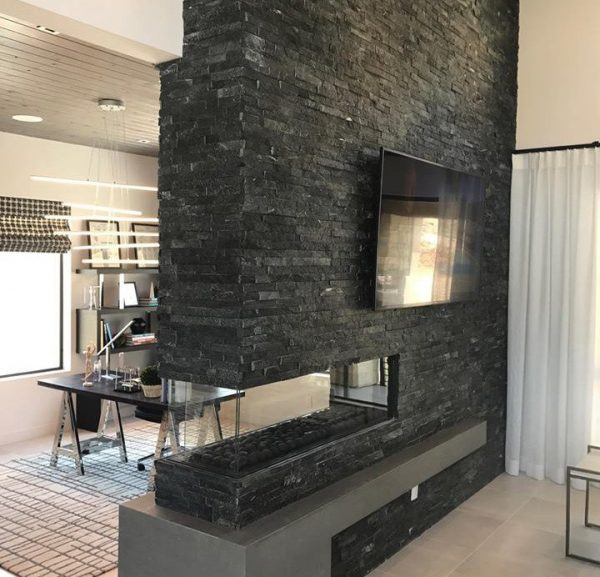Peninsula Modern Linear Fireplaces