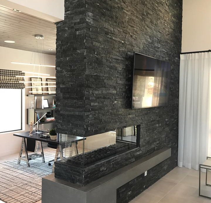 Peninsula Modern Linear Fireplaces