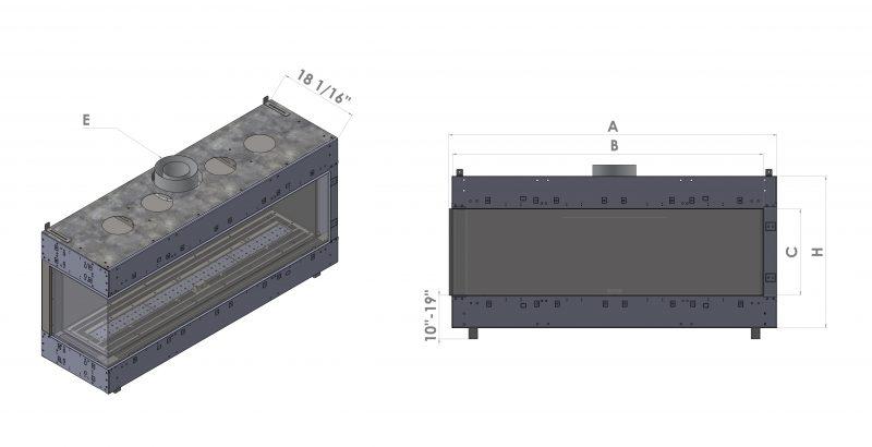 Left Corner fireplace diagram