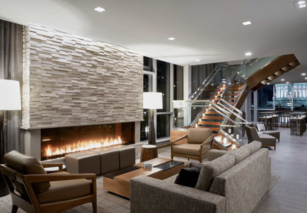 Flare Indoor modern fireplace
