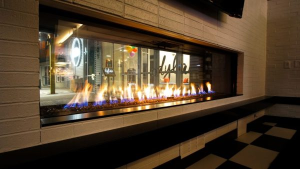 Flare indoor outdoor commercial fireplace