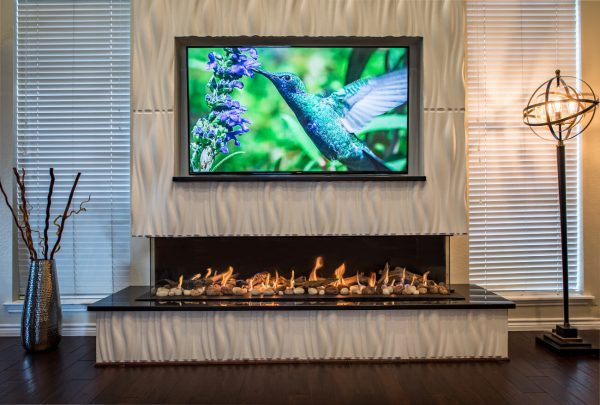 "Flare Double Corner 80"" Fireplace"