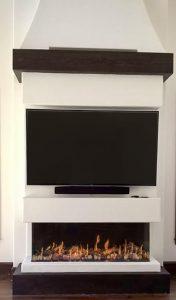 flare fireplace below tv
