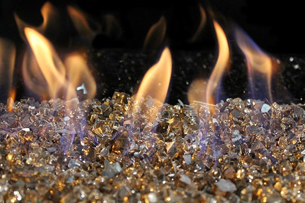 Reflective Bronze fireglass 1/4""