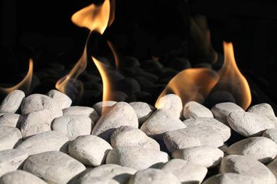 Cottage White Stones for modern fireplace