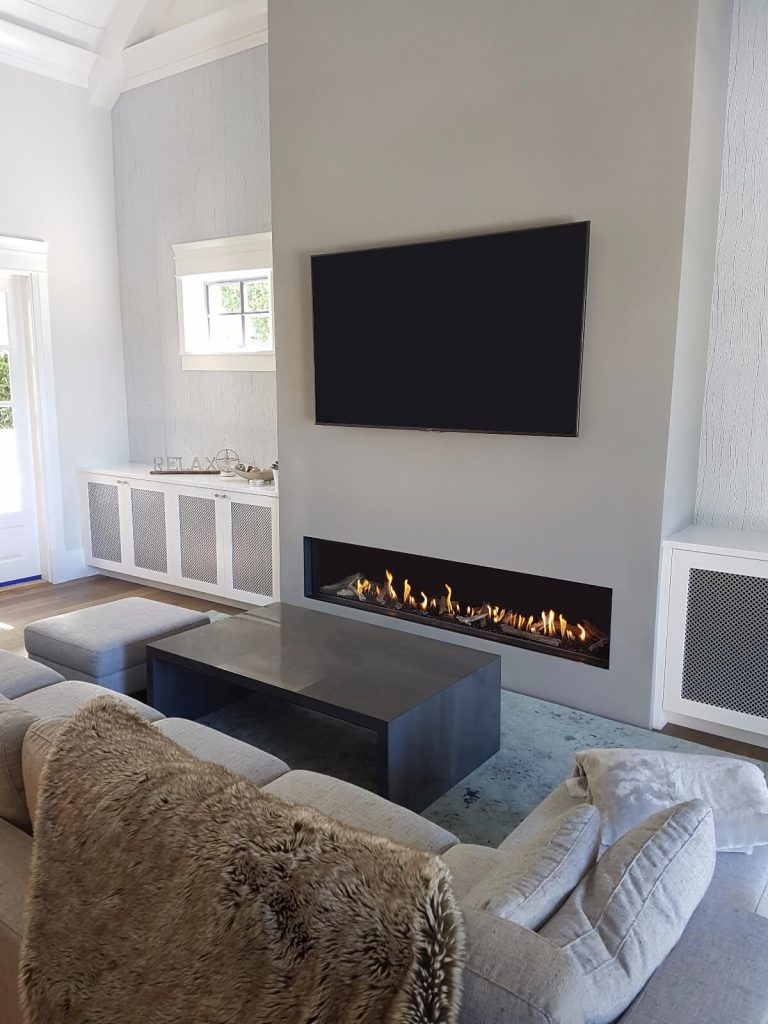 "Linear Front Facing 80"" Flare Fireplace"
