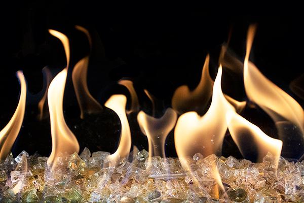 Gold Fire Glass
