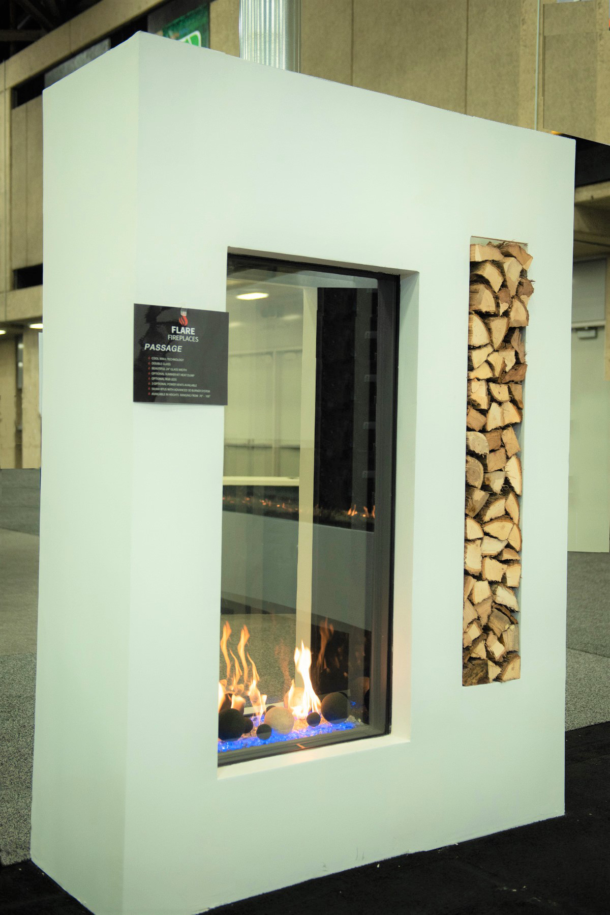Passage Fireplace Vertical Fireplace Flare Fireplaces