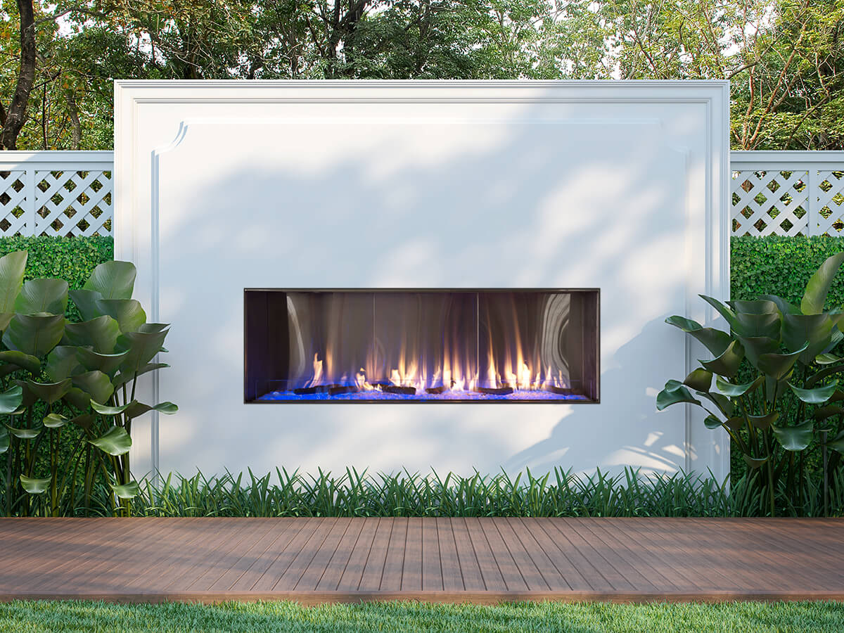 "Flare Vent Free Front Facing 60"" Outdoor Fireplace"