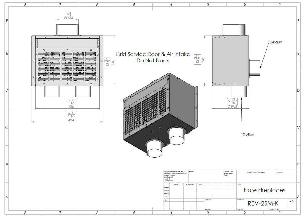 Summer kit fireplace dimensions